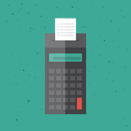 billing: Billing machine in a flat style  Illustration