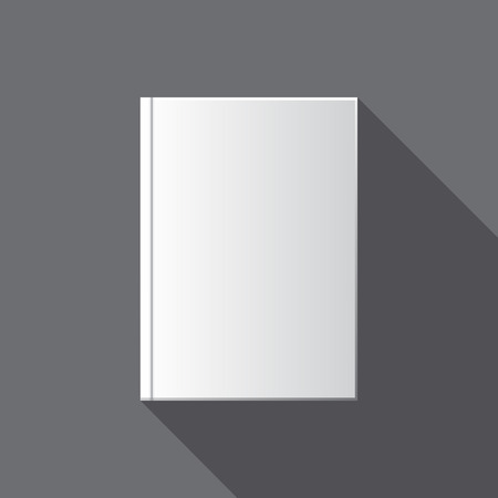 blank book cover: Vector blank book cover template for design Illustration