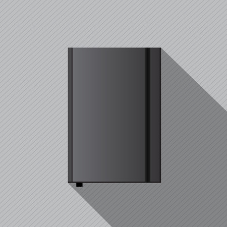 notebook cover: Vector black blank notebook cover template for design