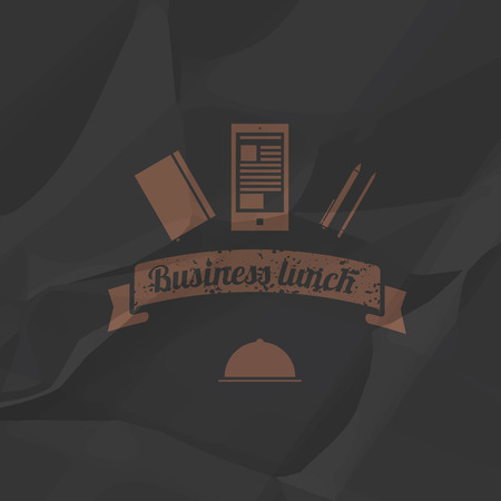 Business menu simple flat style.  Vector