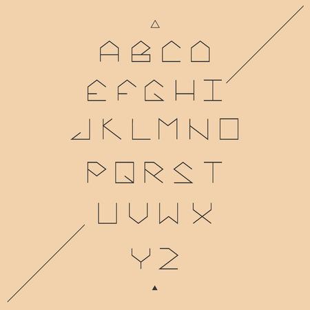 serif: Modern sans serif lineales geometric font. Monospaced font.