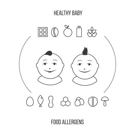 alergenos: Al�rgenos en iconos en periodo de lactancia establecido en el estilo de la forma.