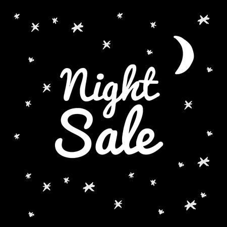 黒の背景にイラストの夜販売。  イラスト・ベクター素材