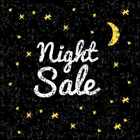 テクスチャと黒の背景の図の夜販売。