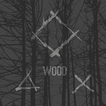 手描きでデザイン分岐の要素です。木材のテクスチャ背景