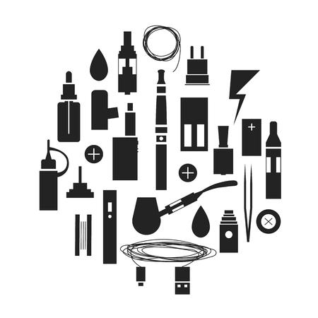 アイコン アーク組成物。黒と白のデザイン要素です。