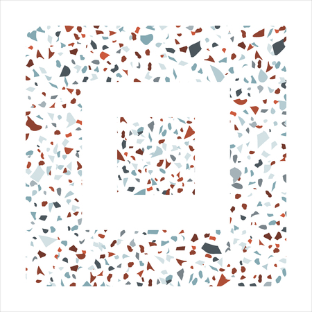 Terrazzo vector pattern with colorful tiles. Can be printed on postcards, textile, wrapping paper, stationery, apparel, umbrellas, purse and bag