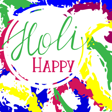 Happy holi colorful vector abstract background. Can be used on postcards, textile, wrapping paper,  apparel, bag 向量圖像