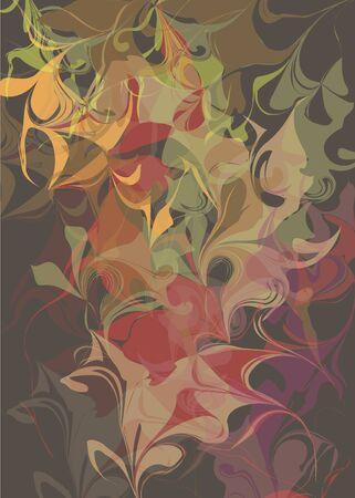 Brown pastel background with colored divorces batik effect . Vector illustration.