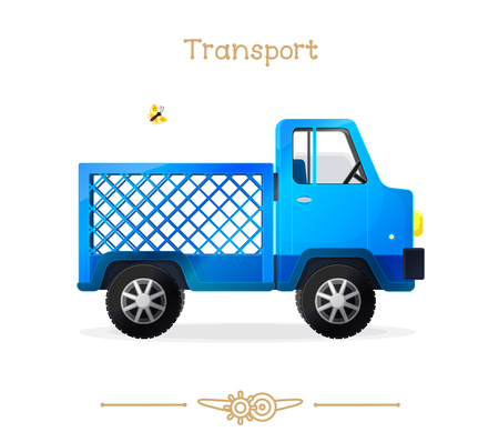 vector illustration series of Cartoon Transport. Cute lorry. Clipart isolated on transparent background. Graphics. Stylized objects. Hand drawn concept. Design elements (sketch). Baby pics