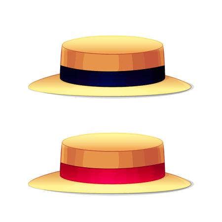 Cappelli di copricapo di illustrazione del fumetto di vettore. Clip art isolato su sfondo trasparente.