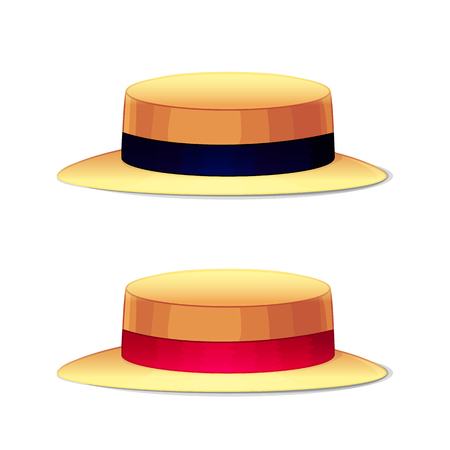 Vector Cartoon illustration headdress hats. Clip art isolated on transparent background.