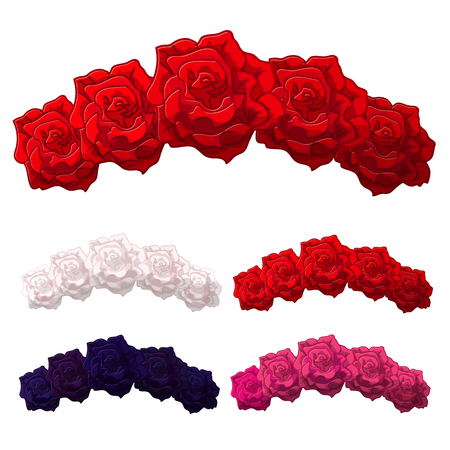 Vector Rose Flower crown. Diadem. Head wreath. Flower halo. Decoration. Headband. Flower Headband. Clipart isolated on transparent background.