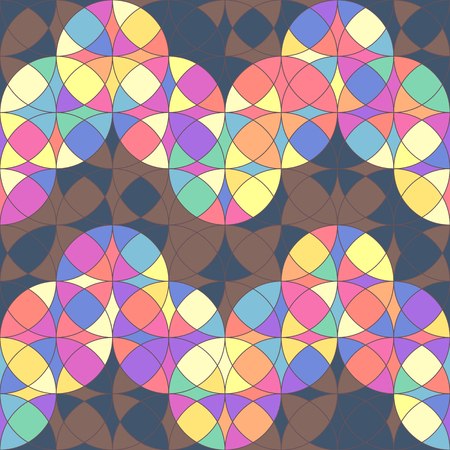 Vector colorful geometric seamless pattern. Mosaic texture concept. 015