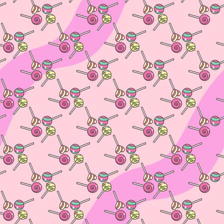 벡터 달콤한 원활한 패턴입니다. 다채로운 귀여운 텍스처 개념입니다. 010