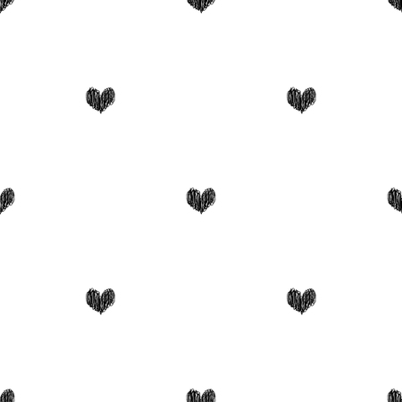 Vector black and white seamless pattern on transparent background. 012