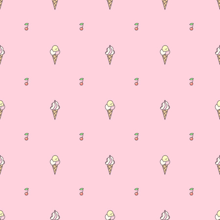 Vector sweet seamless pattern. Colorful cute texture concept. 025
