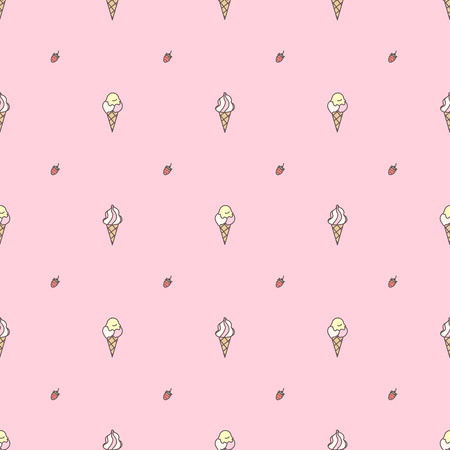 Vector sweet seamless pattern. Colorful cute texture concept. 023