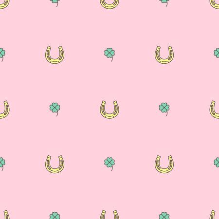 벡터 귀여운 원활한 패턴입니다. 다채로운 텍스처 개념입니다. 006