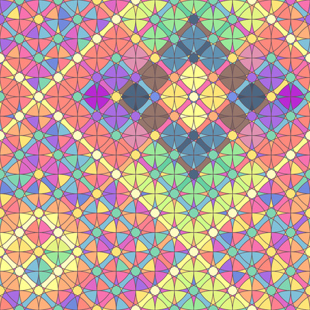 Vector colorful geometric seamless pattern. Mosaic texture concept. 051