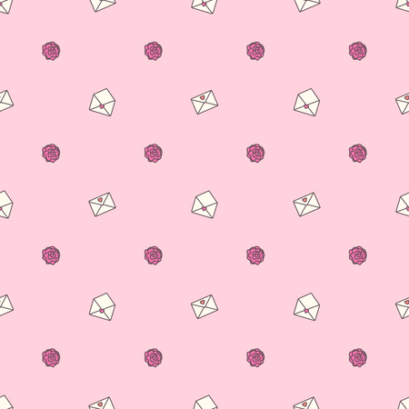 Vector cute seamless pattern. Colorful texture concept. 014