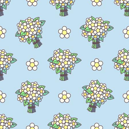 벡터 귀여운 원활한 패턴입니다. 다채로운 텍스처 개념입니다. 013 일러스트
