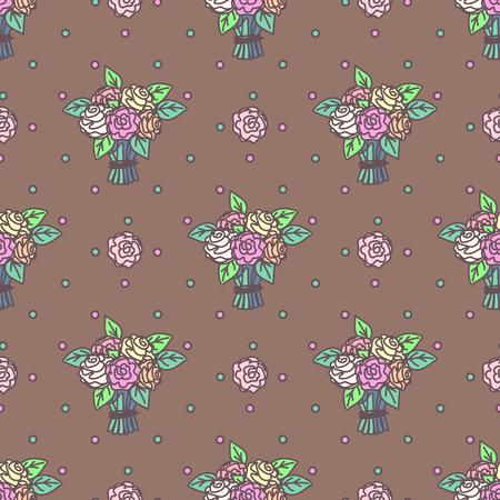 벡터 귀여운 원활한 패턴입니다. 다채로운 텍스처 개념입니다. 012