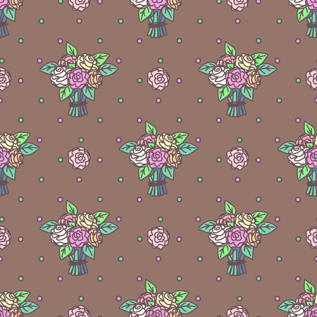Vector cute seamless pattern. Colorful texture concept. 012