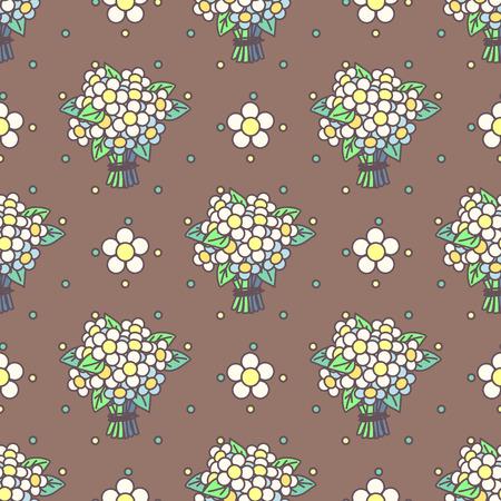 Vector cute seamless pattern. Colorful texture concept. 011