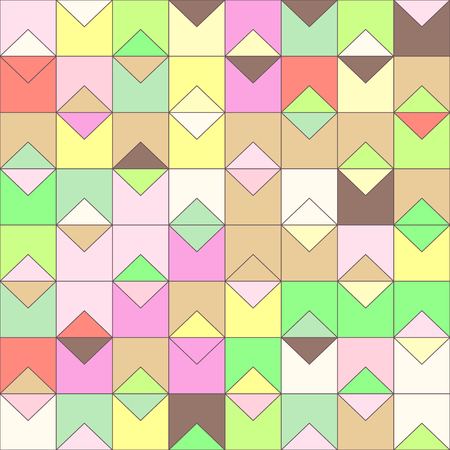 Vector colorful geometric seamless pattern. Mosaic texture concept. 065