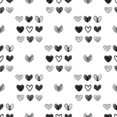 Vector black and white seamless pattern on transparent background. 056