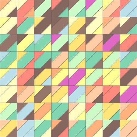 Vector colorful geometric seamless pattern. Mosaic texture concept. 061 Ilustrace