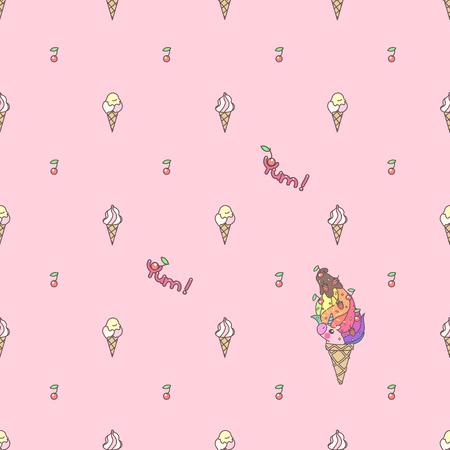 Vector cute seamless pattern. Colorful unicorns texture concept. 029 Illustration