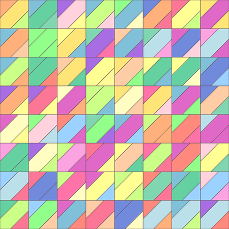 Vector colorful geometric seamless pattern. Mosaic texture concept. 093