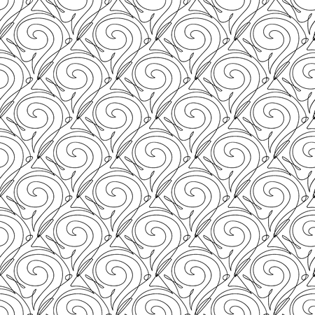 Vector black and white seamless pattern on transparent background. 071