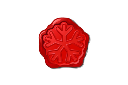 vector wax seal, red christmas retro waxseal stamp