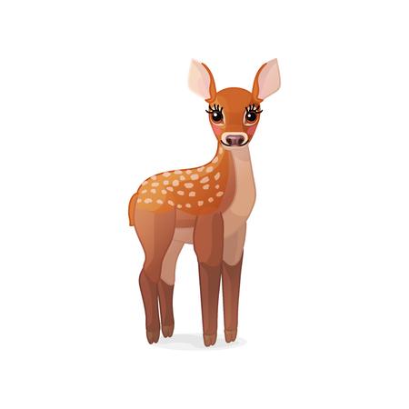 vector cartoon animal clipart: fawn Red deer set Stock Vector - 110945315