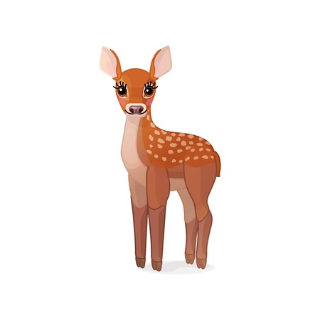 vector cartoon animal clipart: fawn Red deer set 일러스트