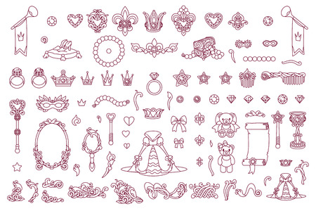 vector royal jewelry collection of Little Princes
