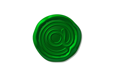 vector vintage isolated wax seal stamp shape Ilustrace