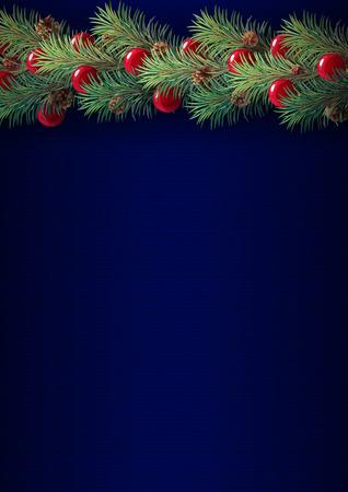 vector Xmas border background christmas tree garland