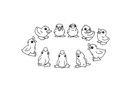vector cartoon animal clipart cute little duckling