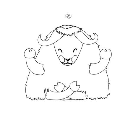 cartoon animal clip art Tibetan yak