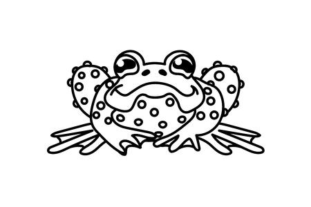 cartoon animal clip art green frog, toad Standard-Bild