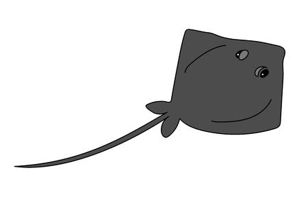 vector scandi cartoon animal clip art stingray