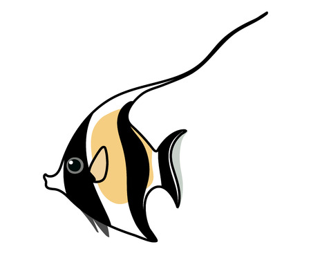 vector scandi cartoon animal clip art moorish idol fish