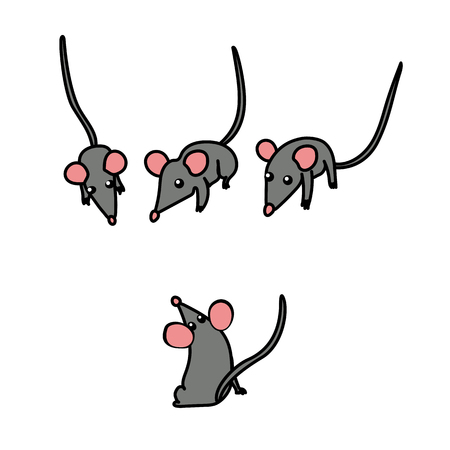 vector scandi cartoon animal clip art mouse mice pet