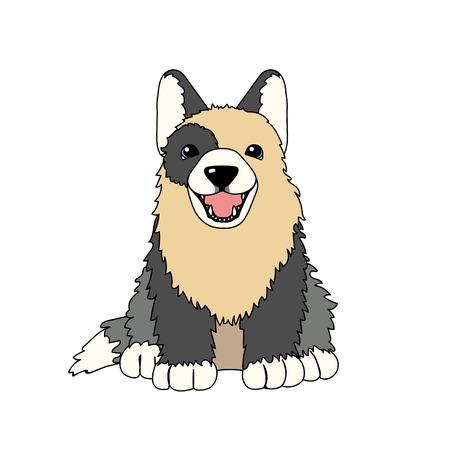 vector scandi cartoon animal clip art puppy dog