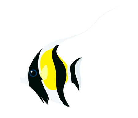 vector flat cartoon animal clip art moorish idol fish