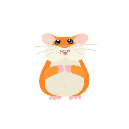 vector flat cartoon animal clip art cute hamster